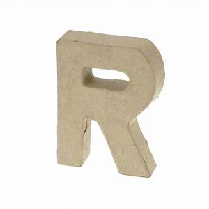 paper mache small letter r 10cm high x 2cm thick With small paper mache letters