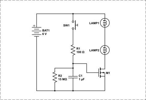 Discrete One Shot Lamp Timer Circuit Electrical