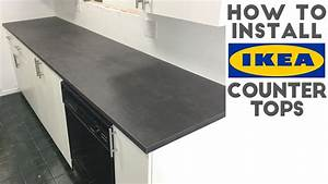 How To Install Laminate / IKEA Countertops Quick and