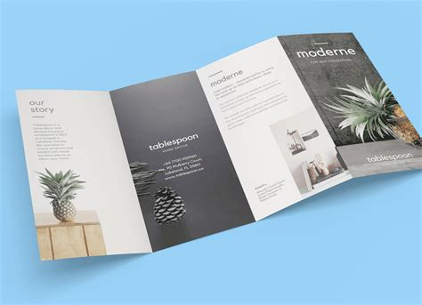 4 Panel Brochure Template by Free 4 Panel Fold Brochure Mockup Psd Mockups