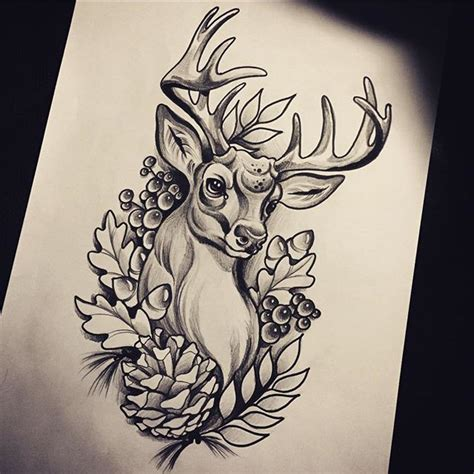 traditional deer tattoos ideas