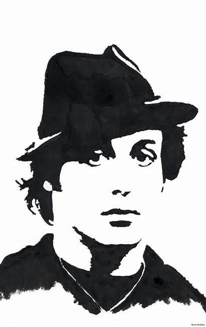 Stallone Sylvester Rocky Pop Silhouette Clipart Stencil