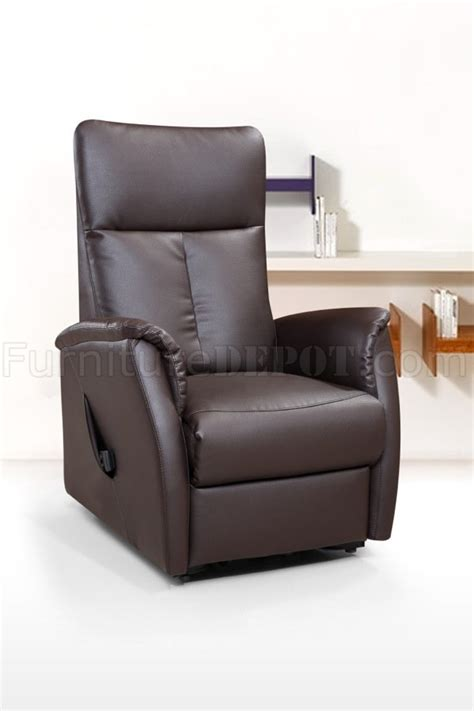 113r power lift chair chocolate bonded leather by american