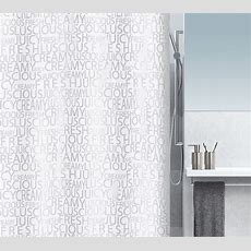 Spirella  Creamy  Textile Shower Curtain Clevershower