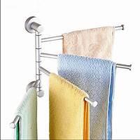 bathroom towel holder Wall Mounted Aluminum Bath Towel Holder Swivel Bathroom ...