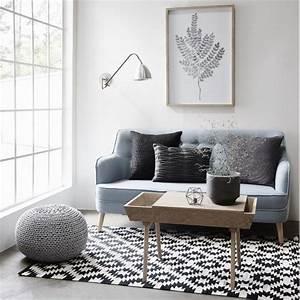 Tapis Graphique Noir Et Blanc : le tapis scandinave 100 id es partout dans la maison ~ Teatrodelosmanantiales.com Idées de Décoration