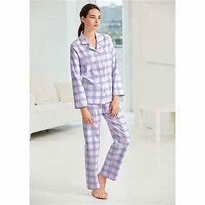 pyjama a carreaux en flanelle novila pas cher pro idee With pyjama carreaux femme
