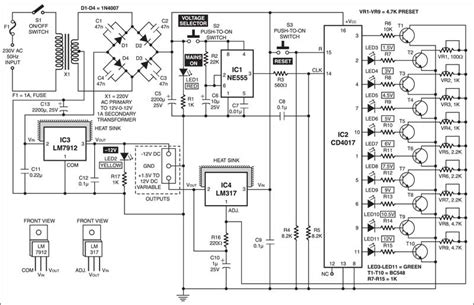 Variable Power Supply With Digital Control Full Circuit