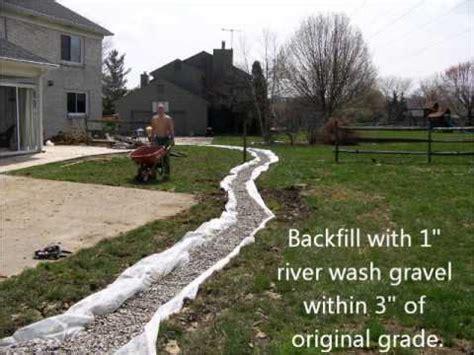 yard drainage youtube