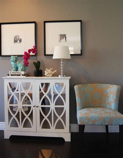 white mirrored cabinet contemporary entrancefoyer marcus design
