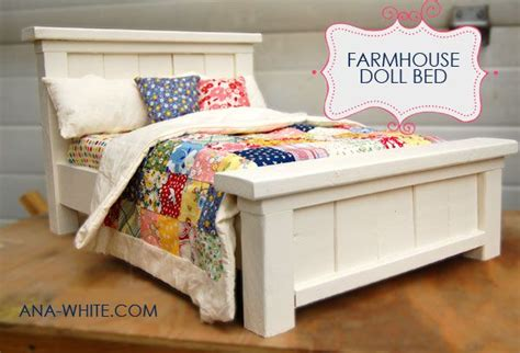 anna white farmhouse doll bed farm house doll bed plans