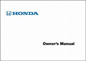 2011 Honda Cr V Owners Manual