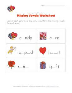 Valentine's Day Missing Letters Worksheet