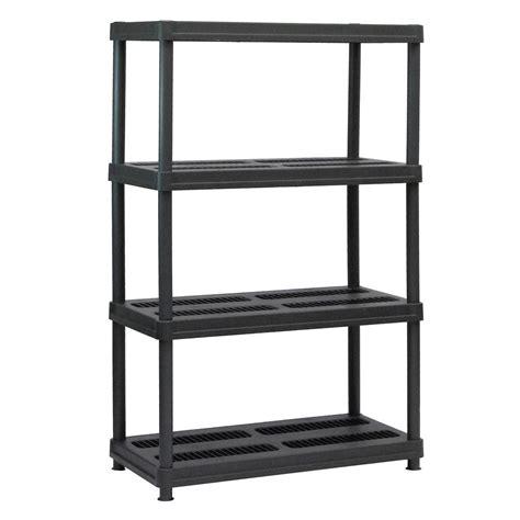home depot garage shelving sandusky 56 in h x 36 in w x 18 in d 4 shelf black