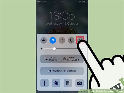 iphone rotation lock how to rotate screen on iphone with pictures wikihow