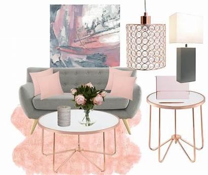 Blush Living Rose Mood Grey Board Gray