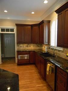 princeton cherry square in harvest bronze with ebony glaze With kitchen cabinets lowes with atlanta united sticker