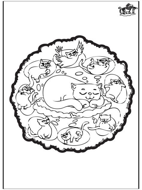 katzen mandala malvorlagen tiermandalas