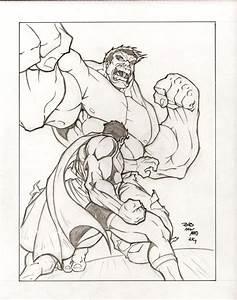 Superman vs Hulk by sketchheavy on DeviantArt