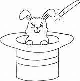 Hat Magician Rabbit Coloring sketch template