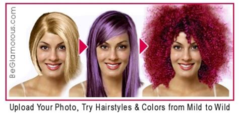 purple hairstyles upload  photo  virtual