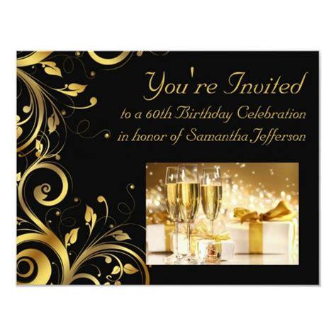 Black and Gold Swirl Custom 60th Birthday Party
