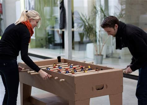kartoni cardboard foosball table  kickpack