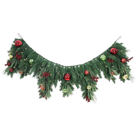 mantle garland with lights home accents holiday 6 ft led pre lit jolly artificial