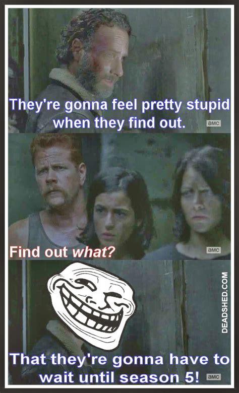 Walking Dead Meme Season 1 - deadshed productions rippin throats edition the walking dead 4x16 memes