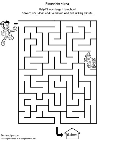 Mickey Mouse Halloween Printable Coloring Pages by Printable Disney Mazes Disney S World Of Wonders