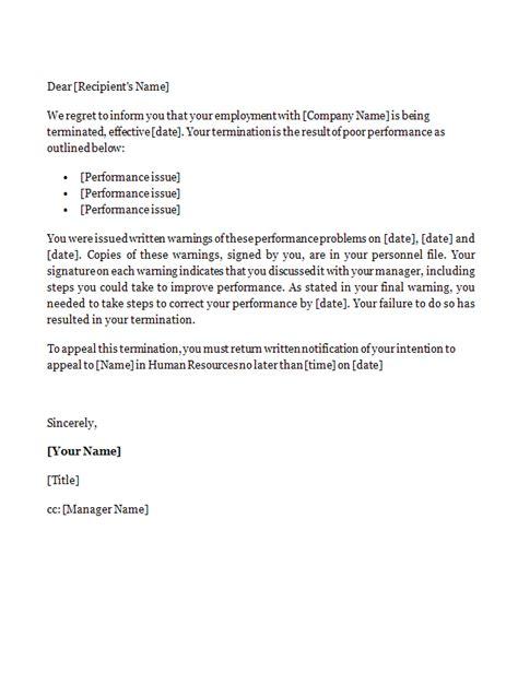 sample employee resignation agreement termination letter
