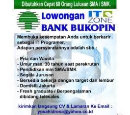 lowongan kerja bank terbaru februari  lowongan kerja