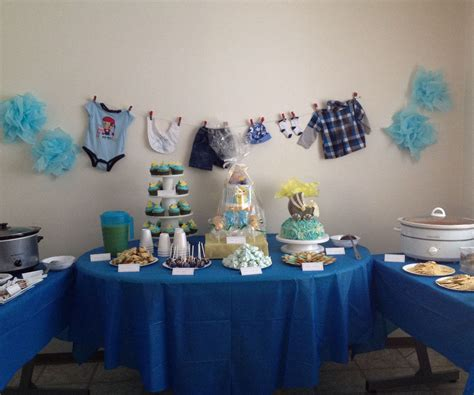 party table idea   boy baby shower