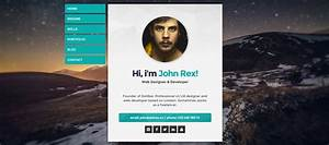 25 personal website templates for easy html websites With personal resume website templates free download