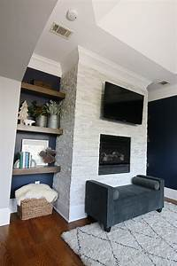 Tiling, A, Stacked, Stone, Fireplace, Surround