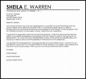 Nurse Pracioner Resignation Letter LiveCareer