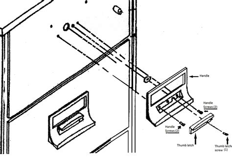 file cabinet repair parts thumb latch for vertical files