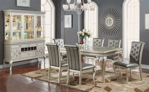 silver dining table pacific imports