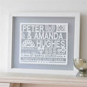 personalised 25th silver wedding anniversary gift by ant With gifts for 25th wedding anniversary