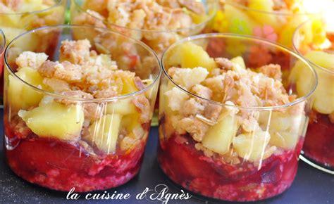 crumble prunes pommes en verrine blogs de cuisine