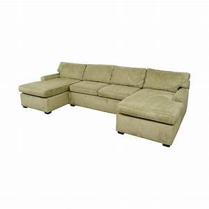 86 off pottery barn pottery barn double chaise light With light green sectional sofa