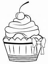 Cupcake Coloring Printable Cupcakes Cake Cup Cakes Sheet Birthday Sheets Colouring Outline Sweet Pattern Bestcoloringpagesforkids Drawings sketch template