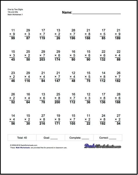 17 Best Ideas About Multiplication Worksheets On Pinterest  Multiplication Table Printable