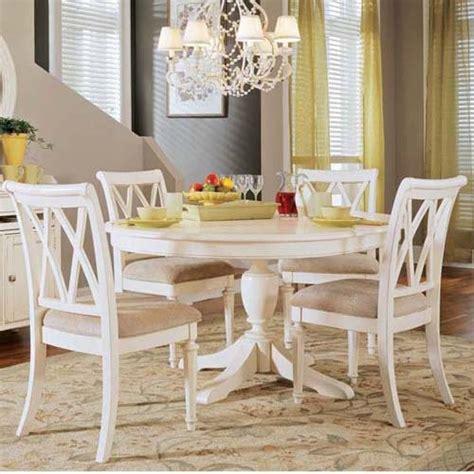 american drew camden 5 pc white pedestal dining
