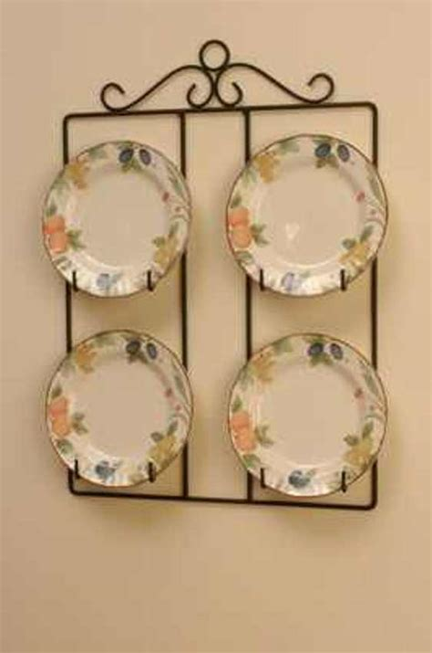 victorian square  plate display holder wall hanger