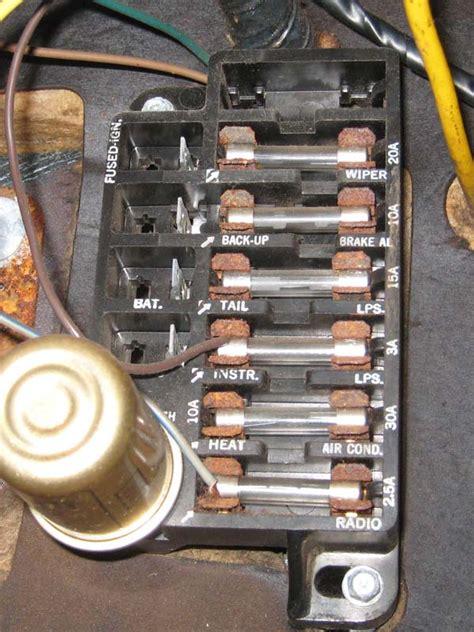 fuse box diagram for 1965 el camino distributor wiring