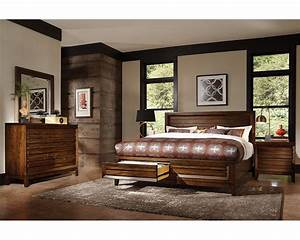 aspenhome bedroom set w panel storage bed walnut park With aspen home furniture bedroom sets
