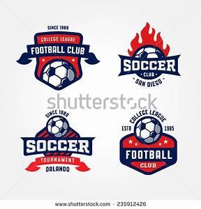 Set of Soccer Football Badge Logo Design Templates   Sport ...