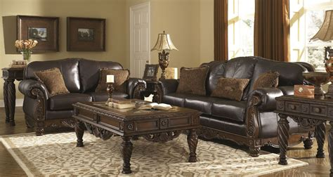 North Shore Dark Brown Living Room Set From Ashley (22603)