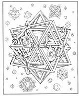 Coloring Pages Geometric Adults Shapes Popular Star sketch template